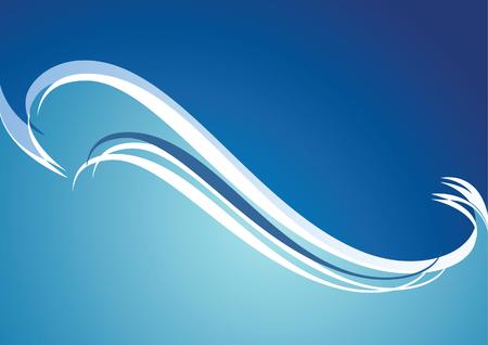 tidal: Storm. Blue background. Vector illustration.