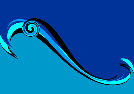 Blue wave  Abstract background  illustration Stock Vector - 3938866