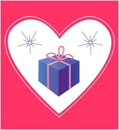 marrying: Fancy box in frame illustration