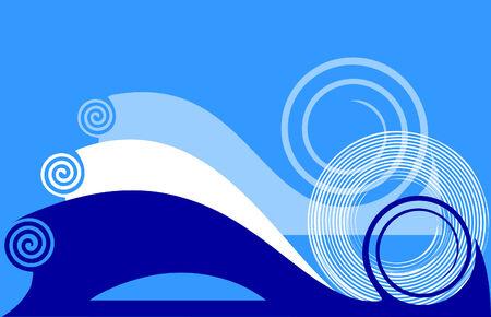 twirls: Blue background with twirls  illustration