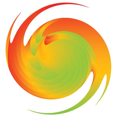 Abstract multicoloured figure illustration  Vector