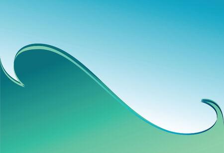 waved: Green wave. Background. Vector illustration.