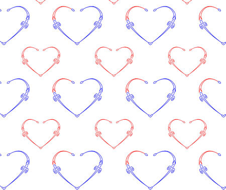Seamless pattern with hearts illustration  Vector