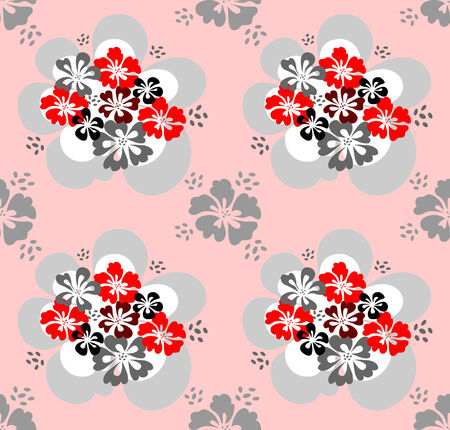 flowerbed: Seamless pattern with flowers design  illustration