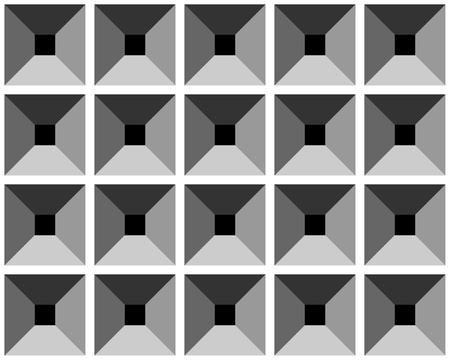 square detail: Sin fisuras de socorro patr�n gris. Ilustraci�n vectorial.