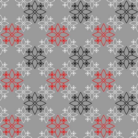 Seamless decorative pattern illustration  Vector