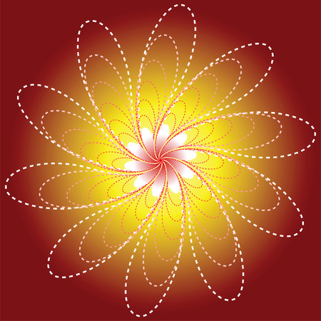 Luminous Flower  illustration  Stock Vector - 4225984