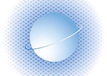 Blue background with sphere illustration Stock Vector - 4225982