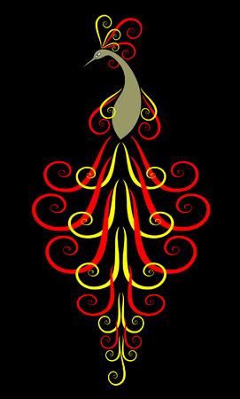 Peafowl  Decorative  illustration