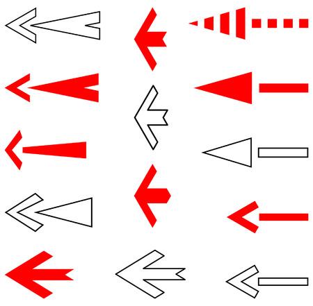 Arrows set. Design elements. Vector. Stock Vector - 4361192