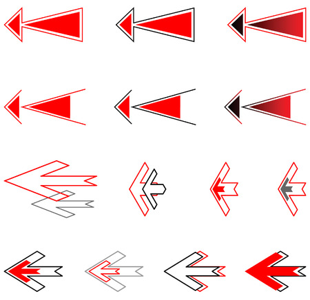 Arrows set. Design elements. Vector. Stock Vector - 4361206