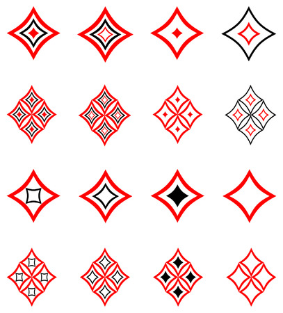 architectural styles: Decorative design elements. Vector.