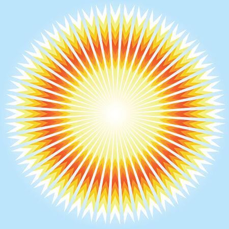 Sunshine. Vector. Vector