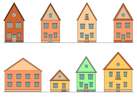 Set of houses. Vector. Vector