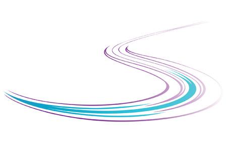Serpentine. Abstract background. Vector illustration. Illustration