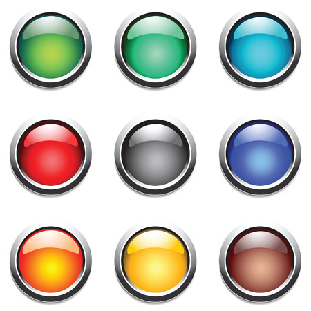 Round buttons set. Vector. Vector