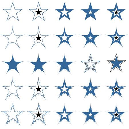 Blue stars. Design elements. Vector. Stock Vector - 4526800