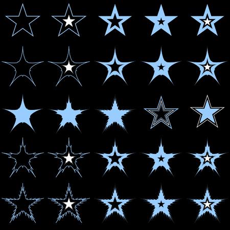 Blue stars. Design elements. Vector. Stock Vector - 4526801