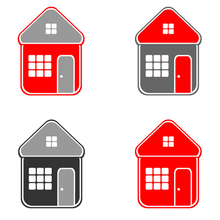 residental: House. Icons. Vector.