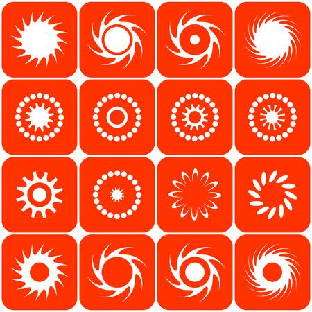 Abstract sun icons. Vector. Stock Vector - 4526805