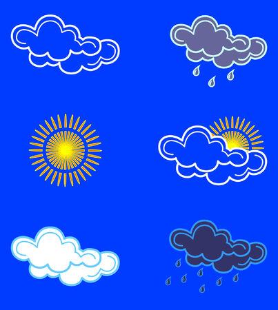 nebulosidade: Weather icons. Vector.