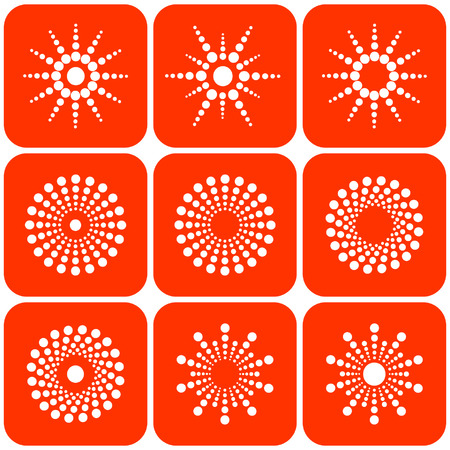 Abstract sun icons. Vector. Vector