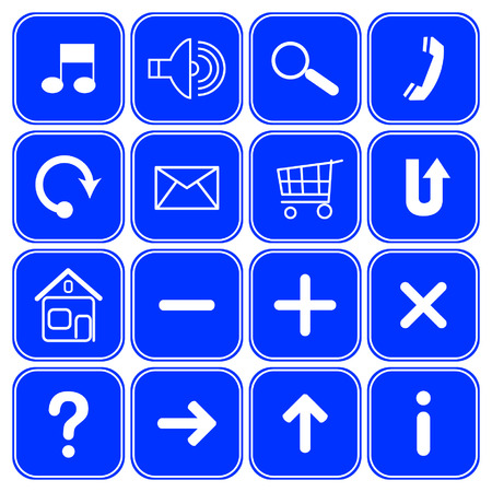 Vector website symbols.  Vector