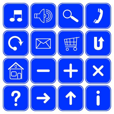 ques: Vector website symbols.