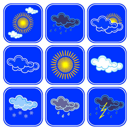 Vector weather icons. Vector