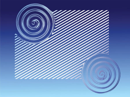 twirls: Blue background. Vector. Illustration