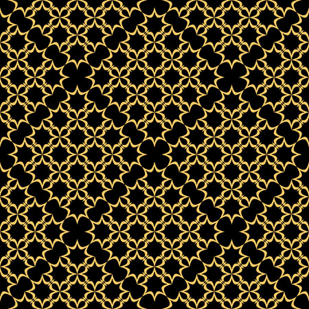Seamless black-golden pattern  Vector