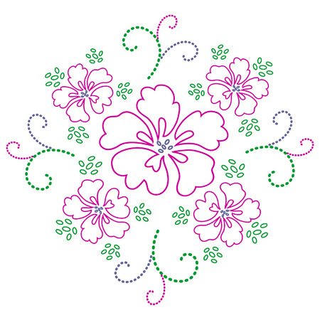 flora vector: Flower design
