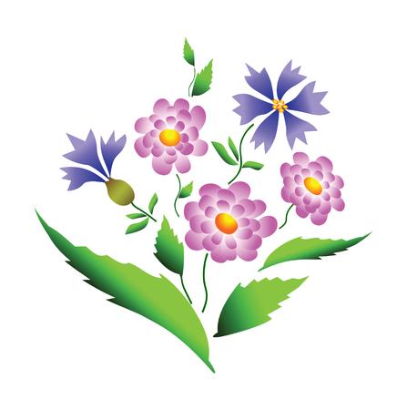 garden cornflowers: Flowers design
