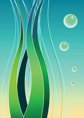 Undersea. Background. Vector illustration. Stock Vector - 4785393