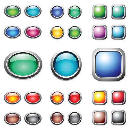 �valo: Botones de colores establecidos. Vector.