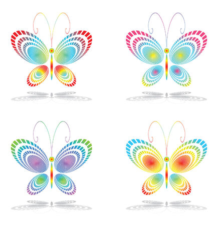 feeler: Butterfly icons  Illustration