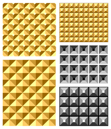 Seamless relief patterns  Vector