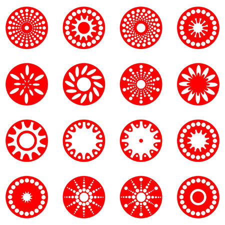 Design elements set. Vector abstract icons. Vector
