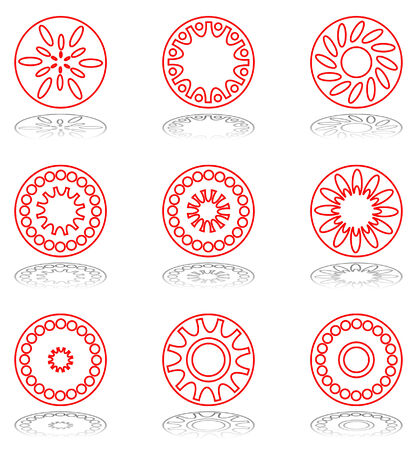 Design elements set. Vector abstract icons. Stock Vector - 5592174