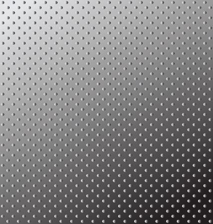 Textura sin costuras. Superficie de metal de Socorro. Ilustración vectorial editable.