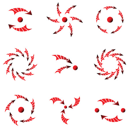 Conceptual design elements with arrows. Vector set. Stock Vector - 5818624