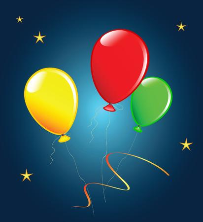Holiday balloons. Vector illustration. Fully editable. Vector