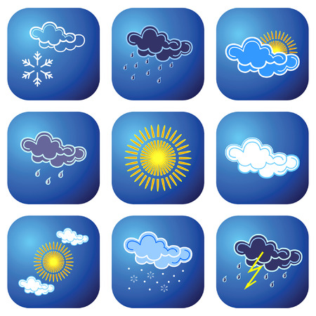 cloudiness: Weather icons. Vector illustration. Illustration
