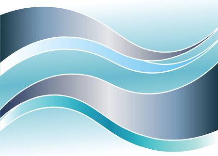 波の背景。ベクトル イラスト。