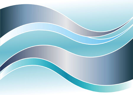 gale: Background with waves. Vector illustration.