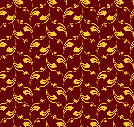 Seamless pattern in baroque style. Vector editable illustration. Vector