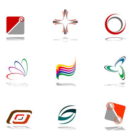 Insieme di elementi di design.