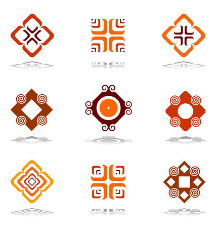 Design elements in warm colors Stock Vector - 6063798