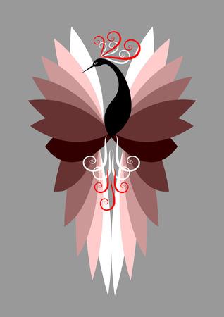 装飾的な鳥の図