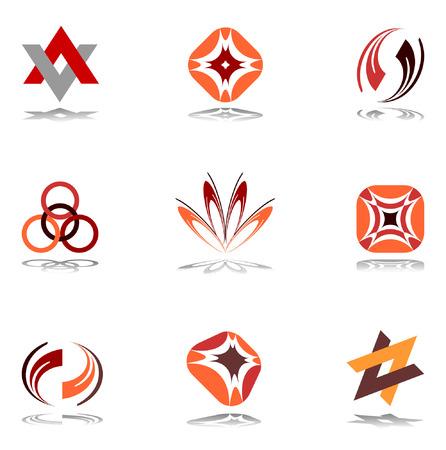Design elements in warm colors. Set 10. Vector. Stock Vector - 6520847